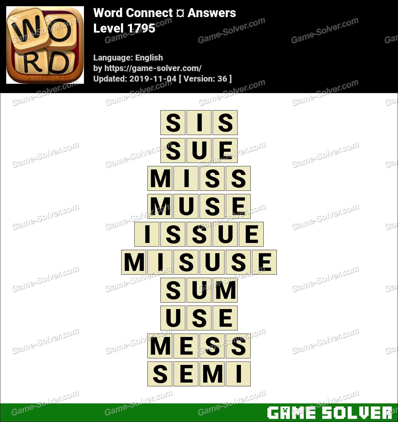 Word Connect Level 1795 Answers