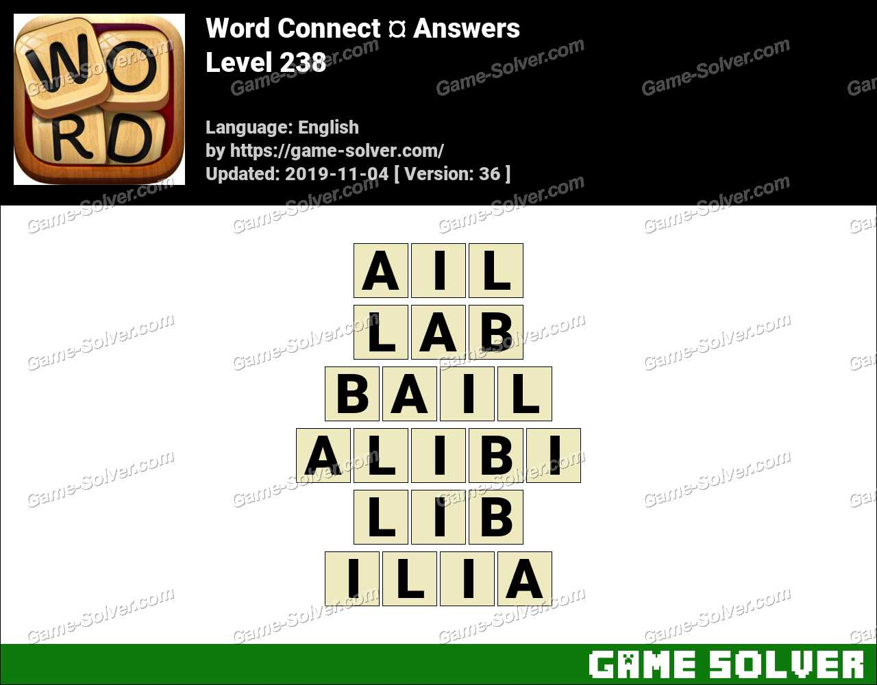 Word Connect Level 238 Answers