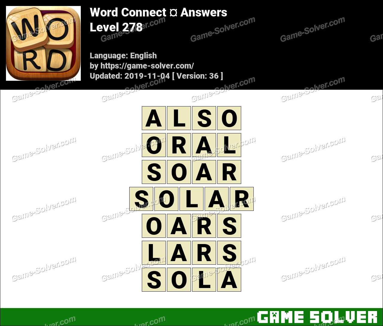 Word Connect Level 278 Answers
