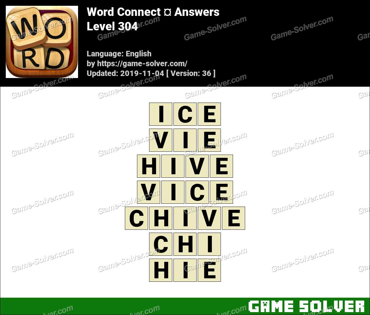 Word Connect Level 304 Answers