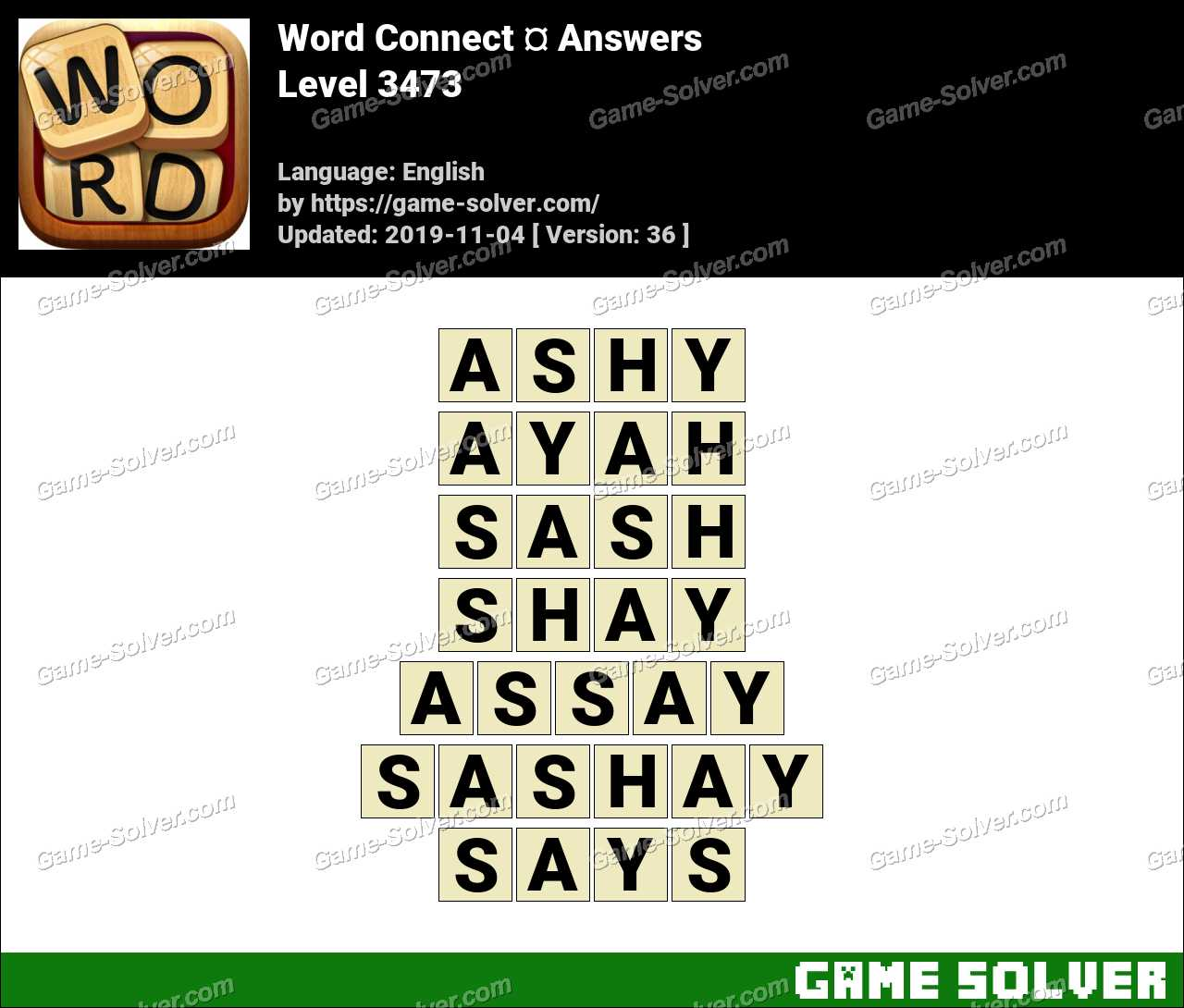 Word Connect Level 3473 Answers