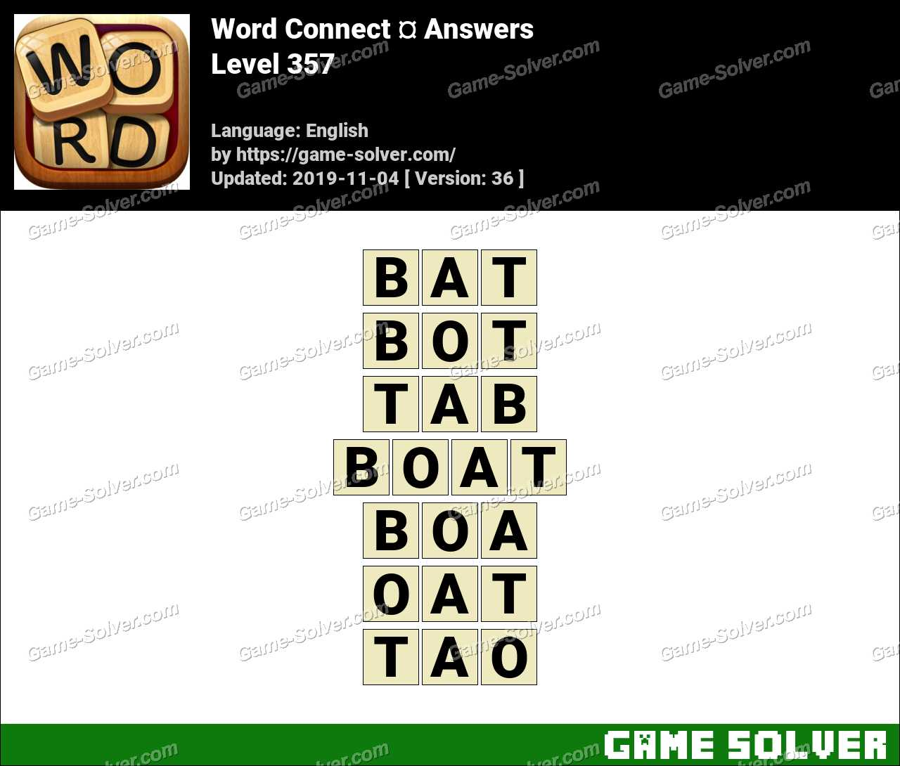 Word Connect Level 357 Answers