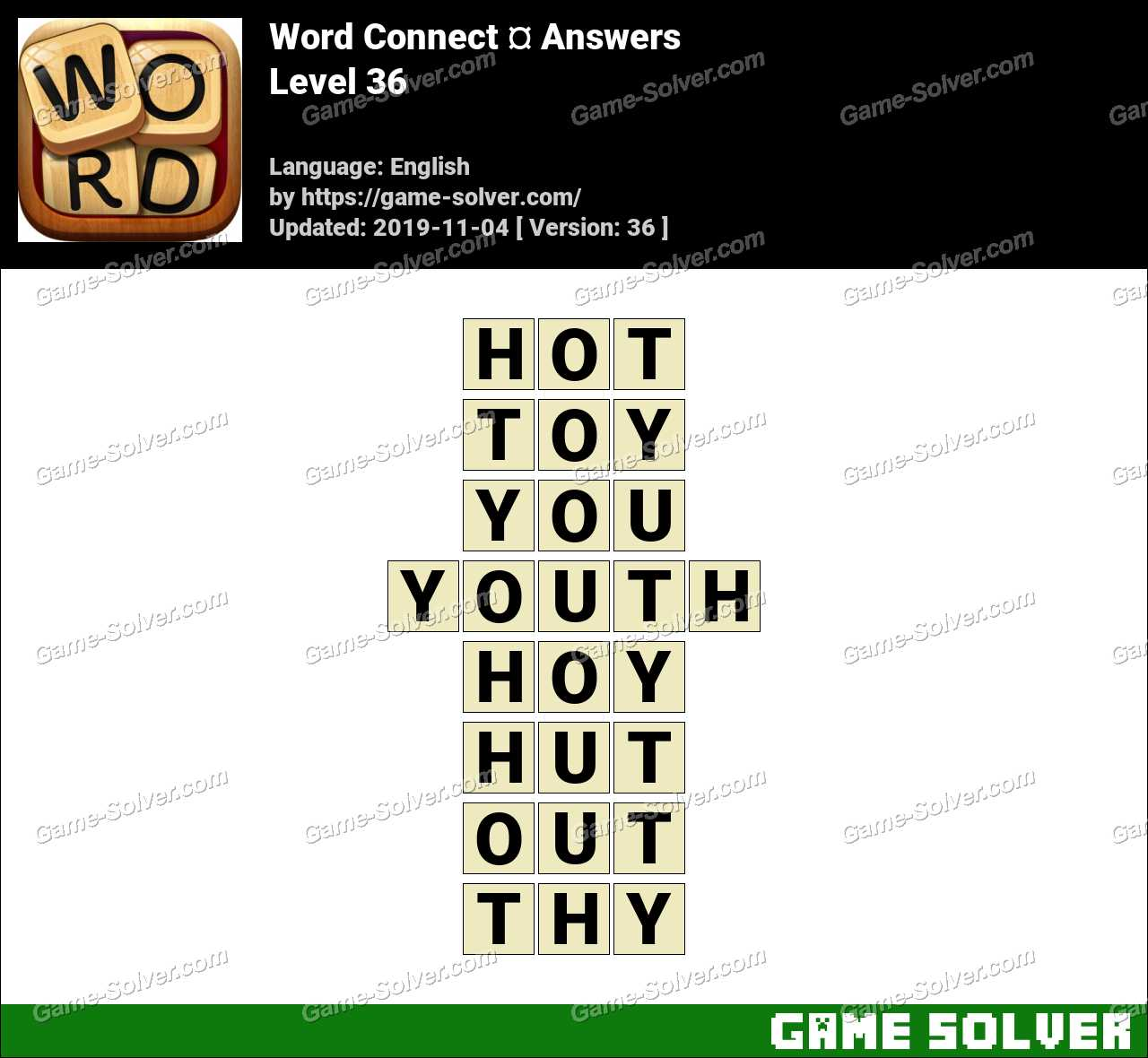 Word Connect Level 36 Answers
