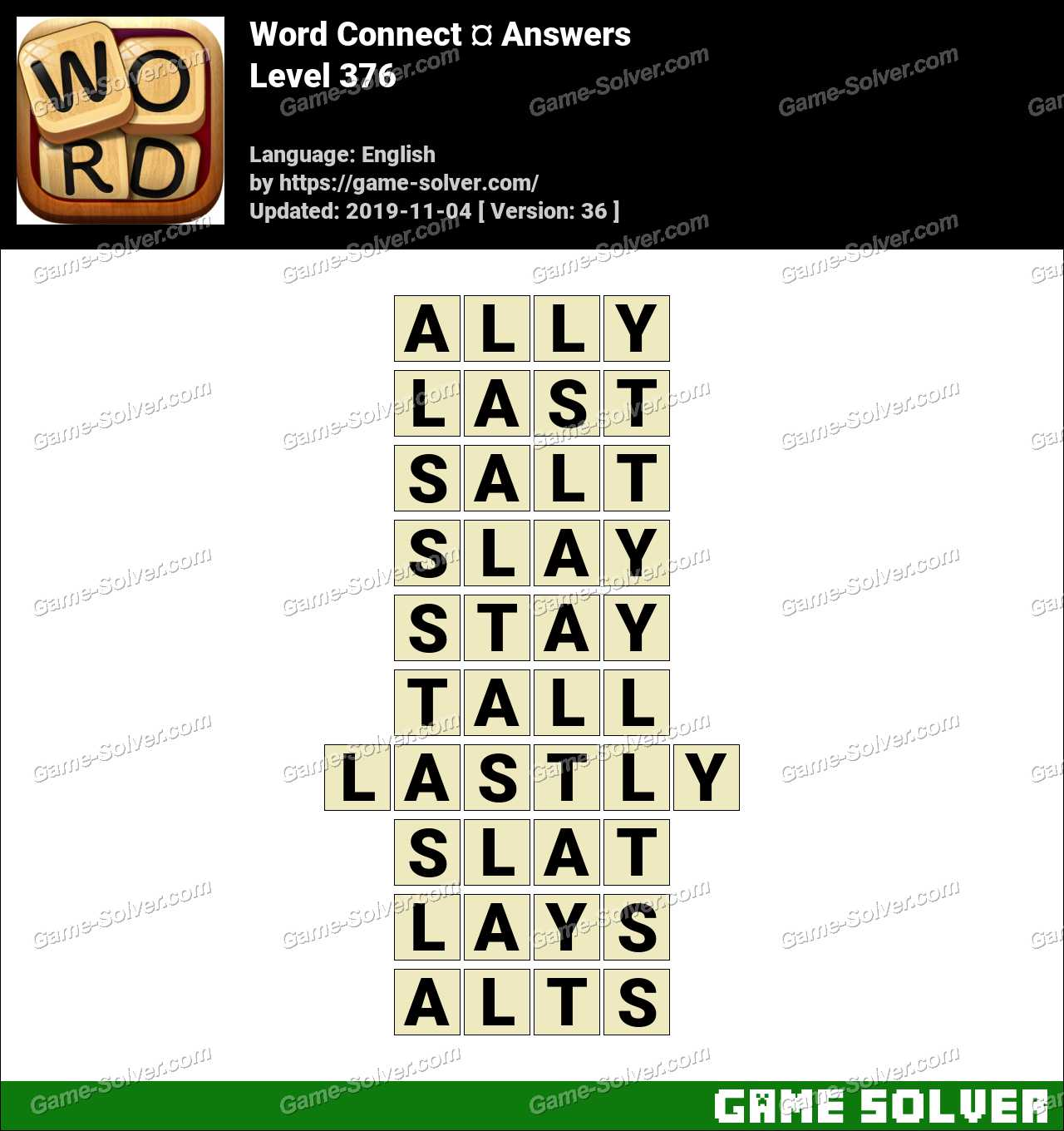 Word Connect Level 376 Answers