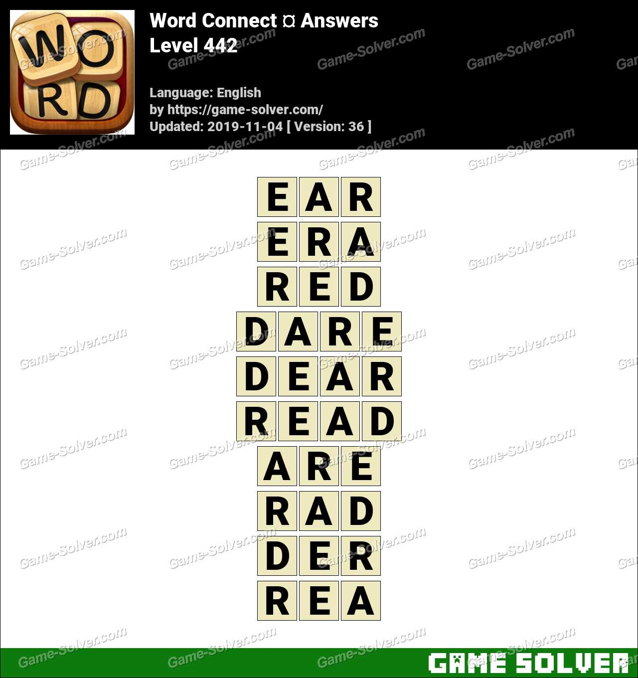 Word Connect Level 442 Answers