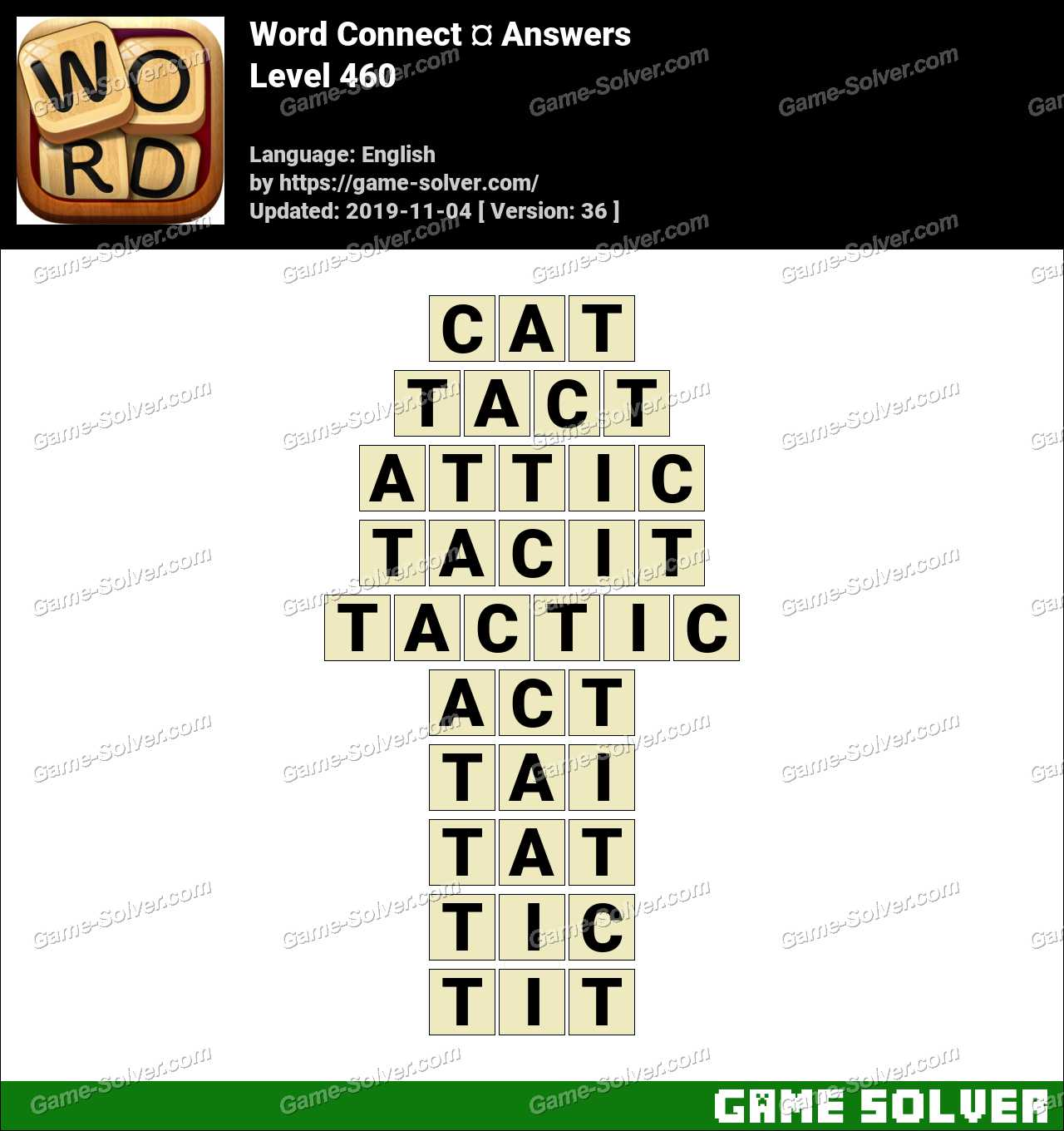 Word Connect Level 460 Answers