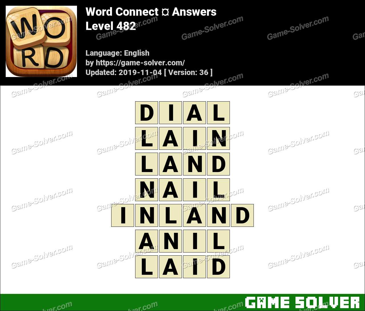 Word Connect Level 482 Answers