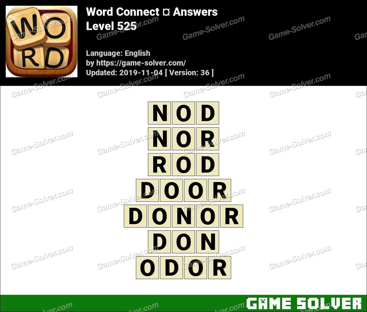Word Connect Level 525 Answers