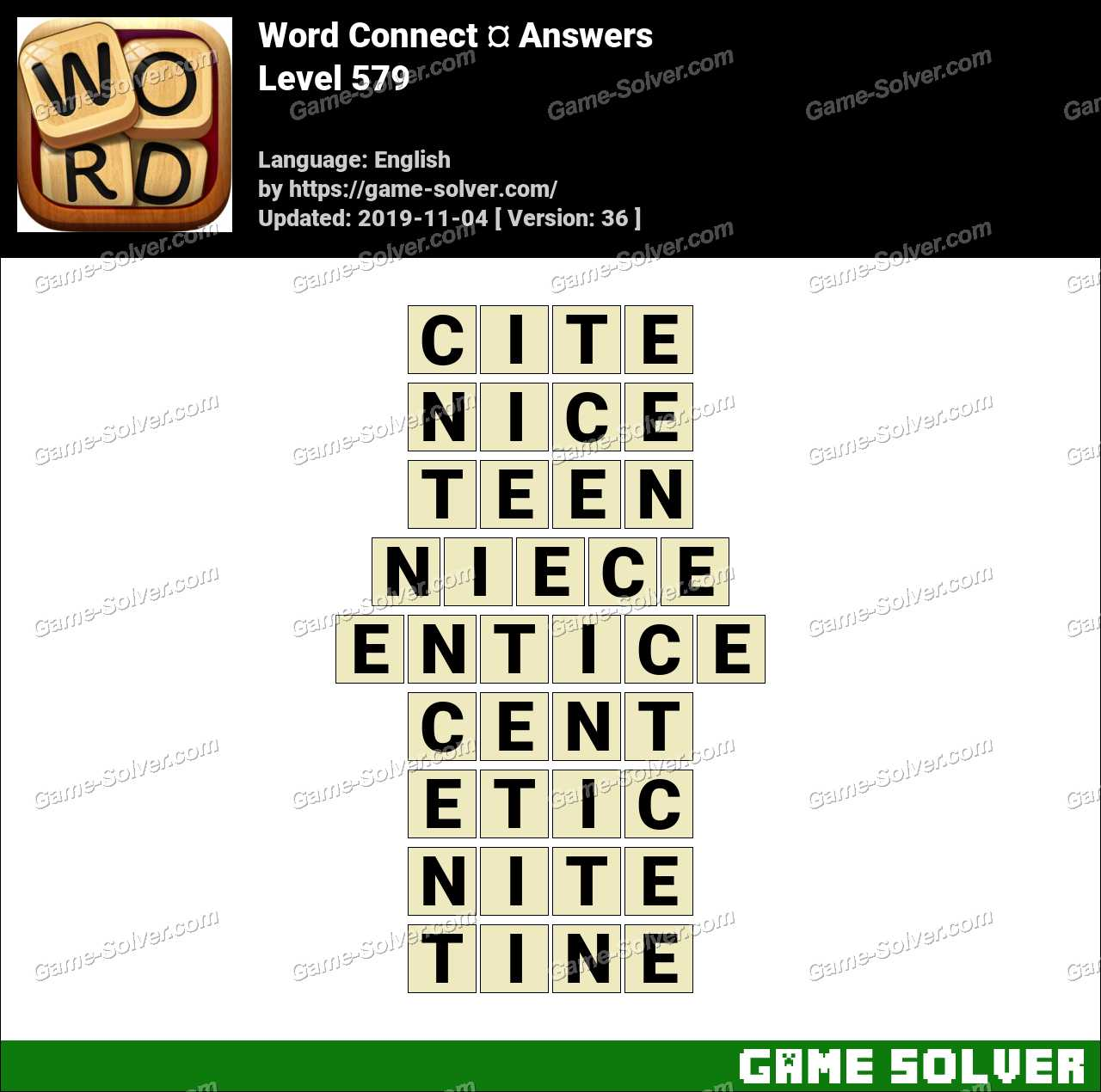 Word Connect Level 579 Answers