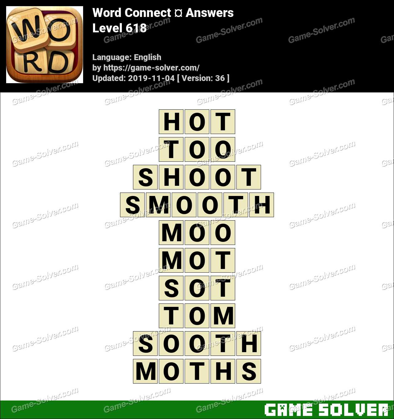 Word Connect Level 618 Answers