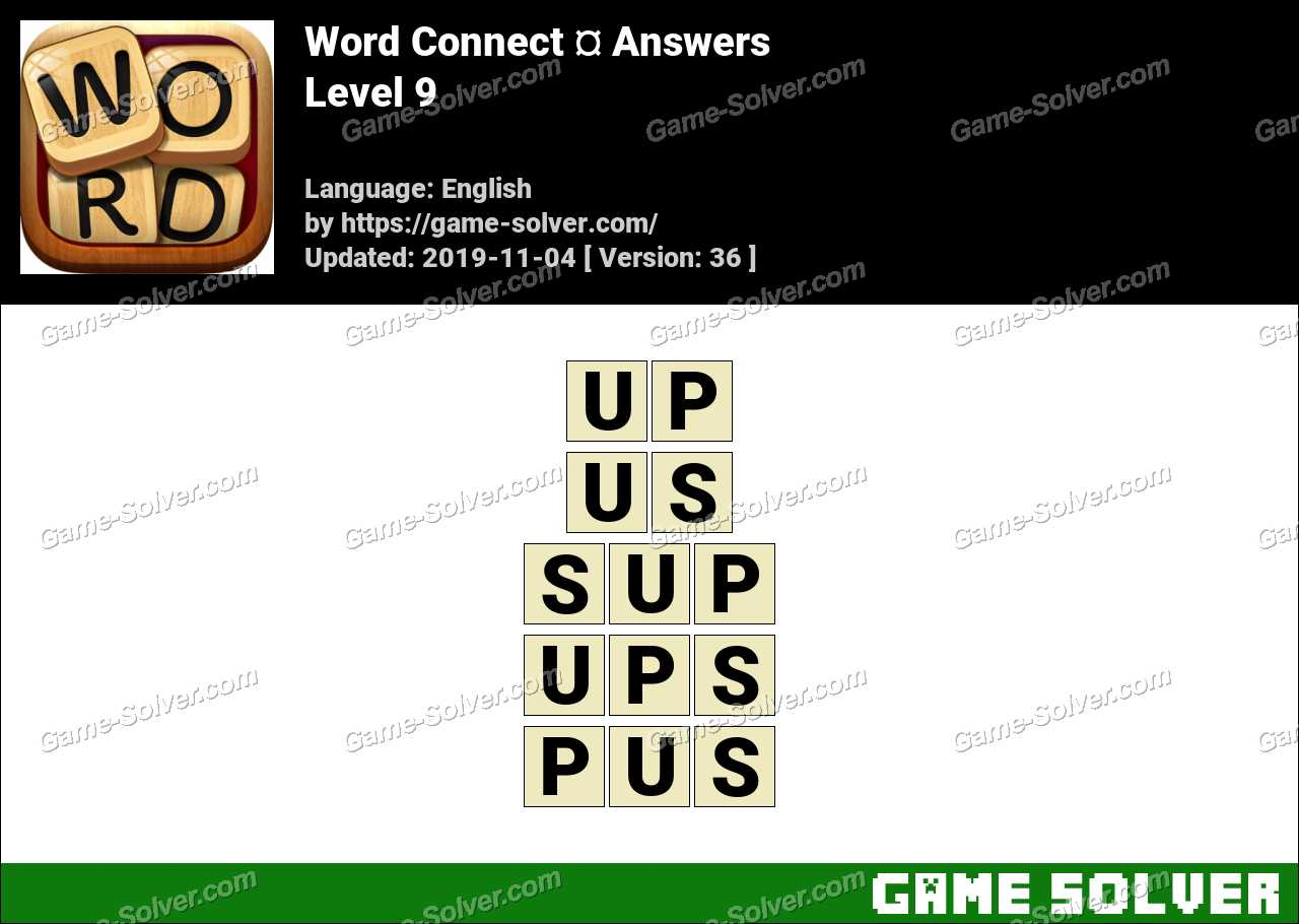 Word Connect Level 9 Answers