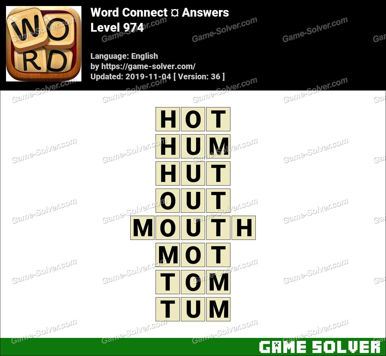 Word Connect Level 974 Answers