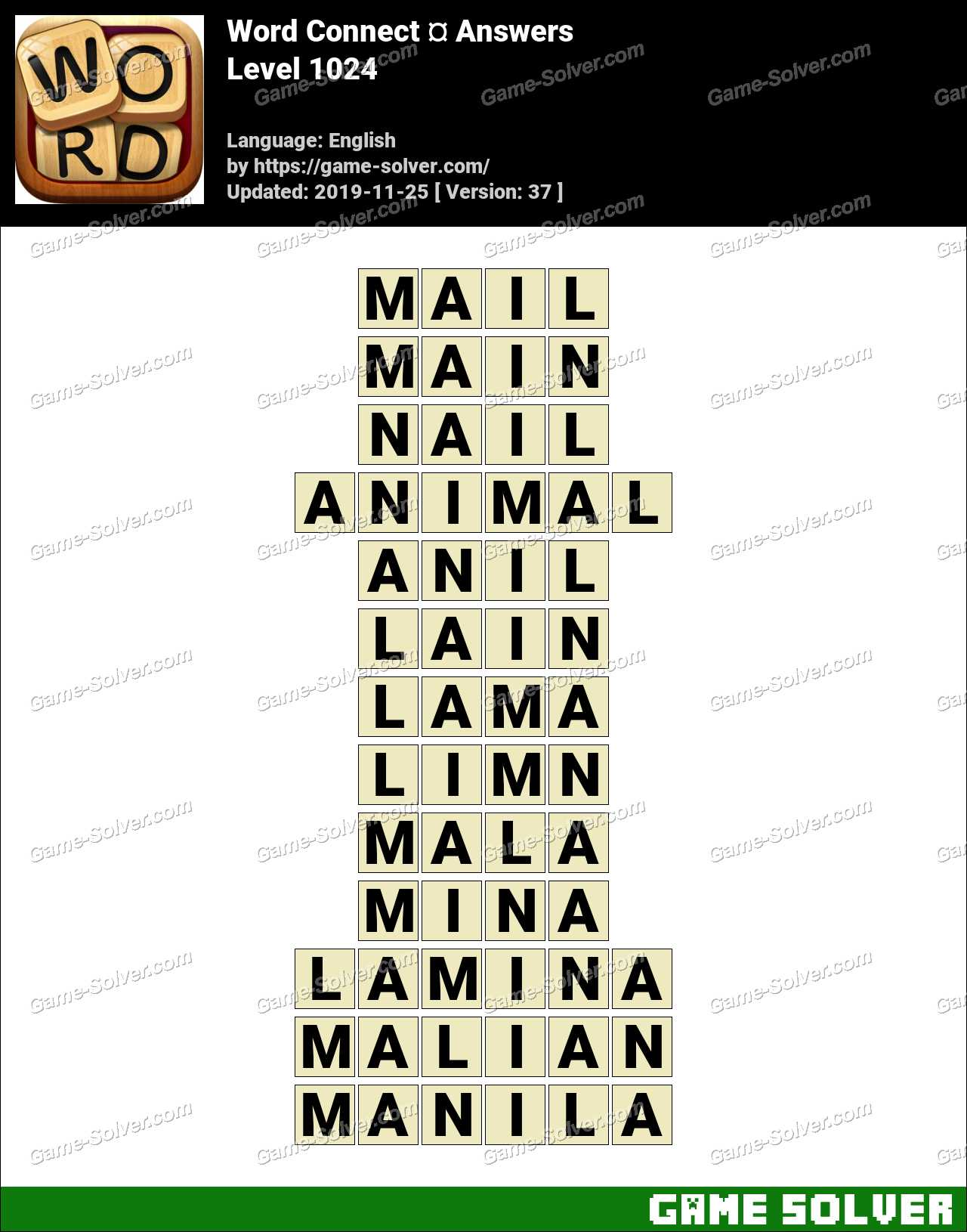Word Connect Level 1024 Answers