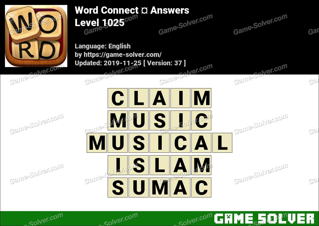 Word Connect Level 1025 Answers