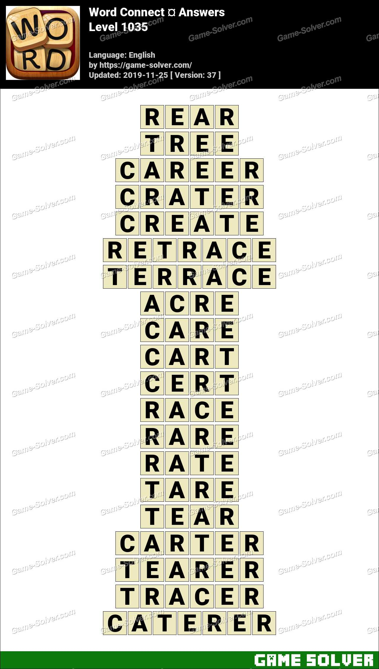 Word Connect Level 1035 Answers