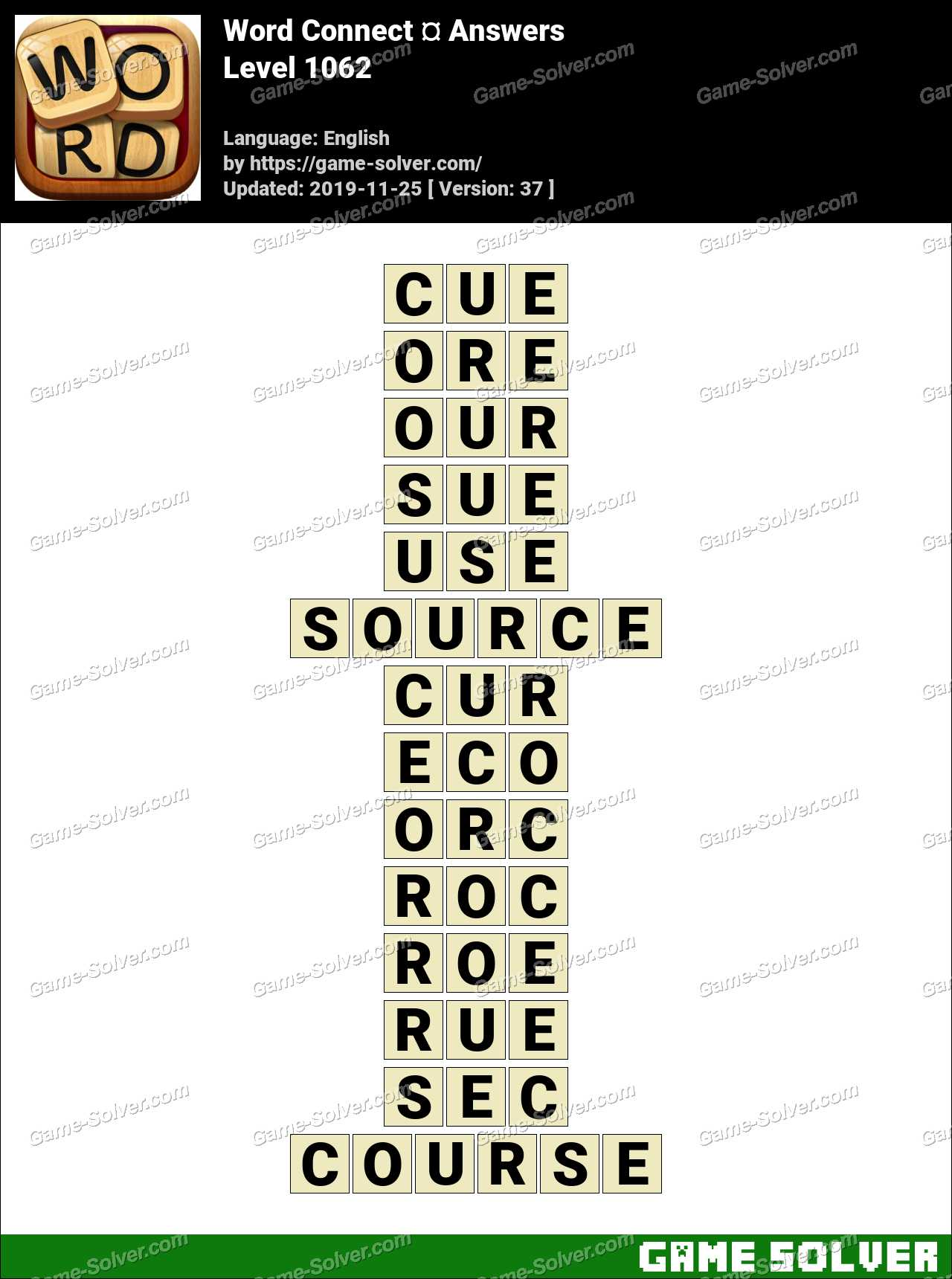 Word Connect Level 1062 Answers