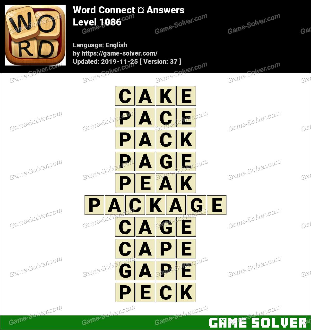 Word Connect Level 1086 Answers