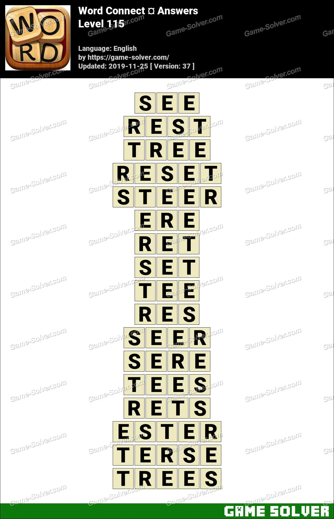 Word Connect Level 115 Answers