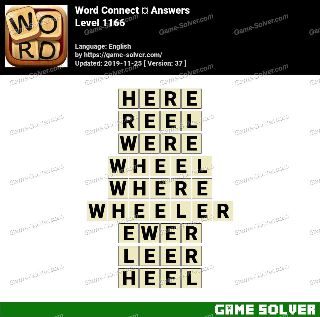 Word Connect Level 1166 Answers