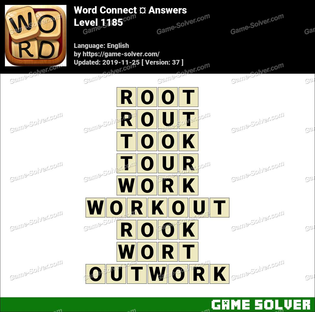 Word Connect Level 1185 Answers