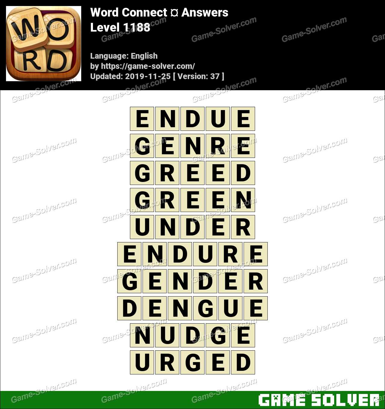 Word Connect Level 1188 Answers