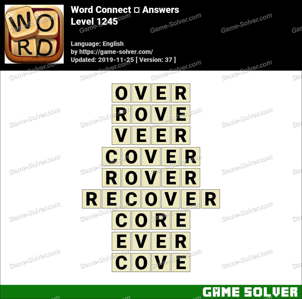 Word Connect Level 1245 Answers