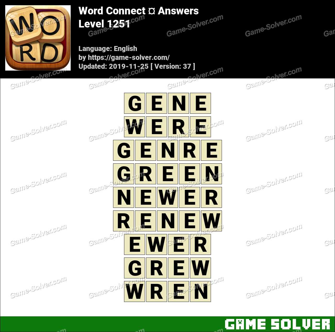 Word Connect Level 1251 Answers