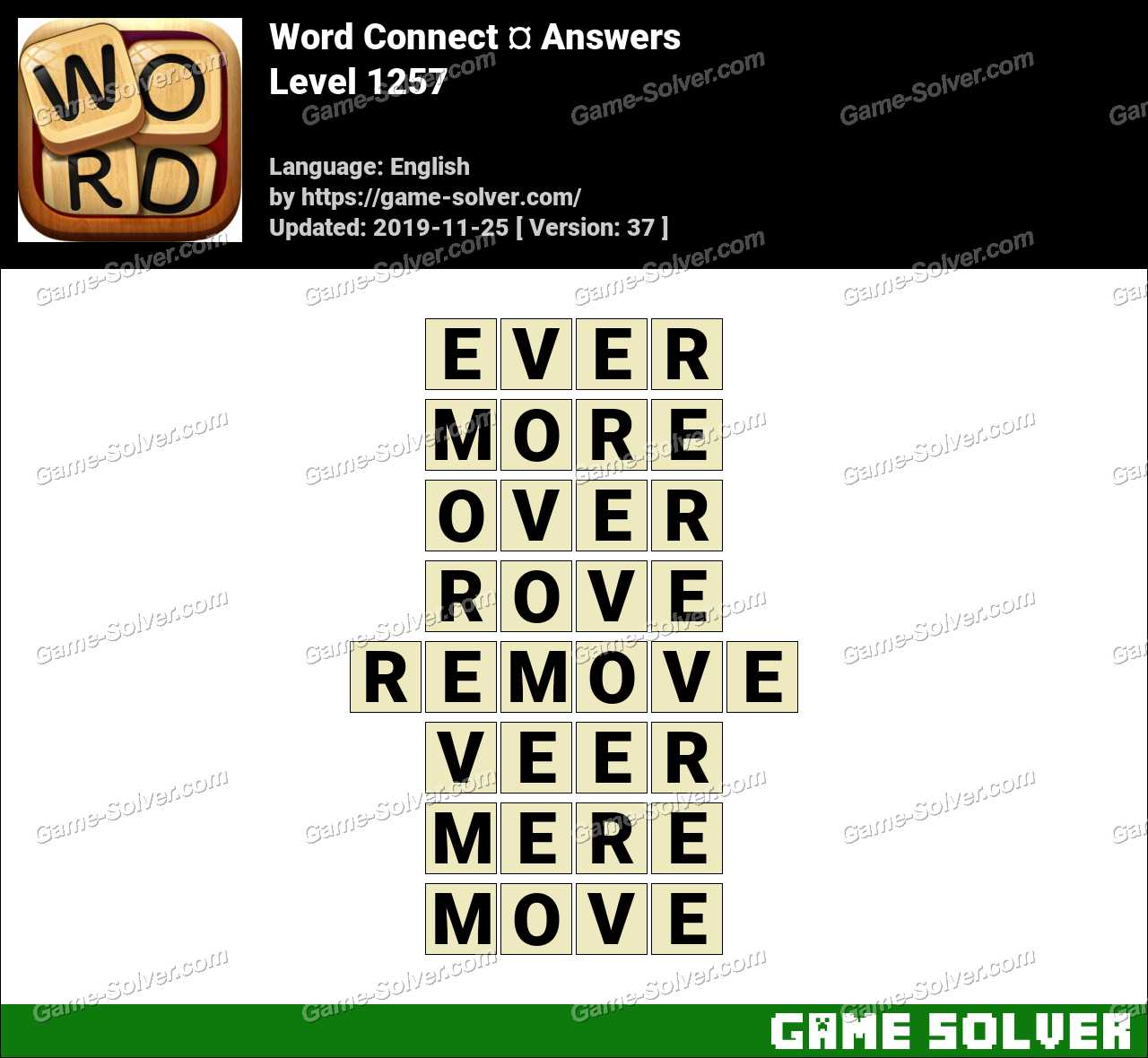 Word Connect Level 1257 Answers