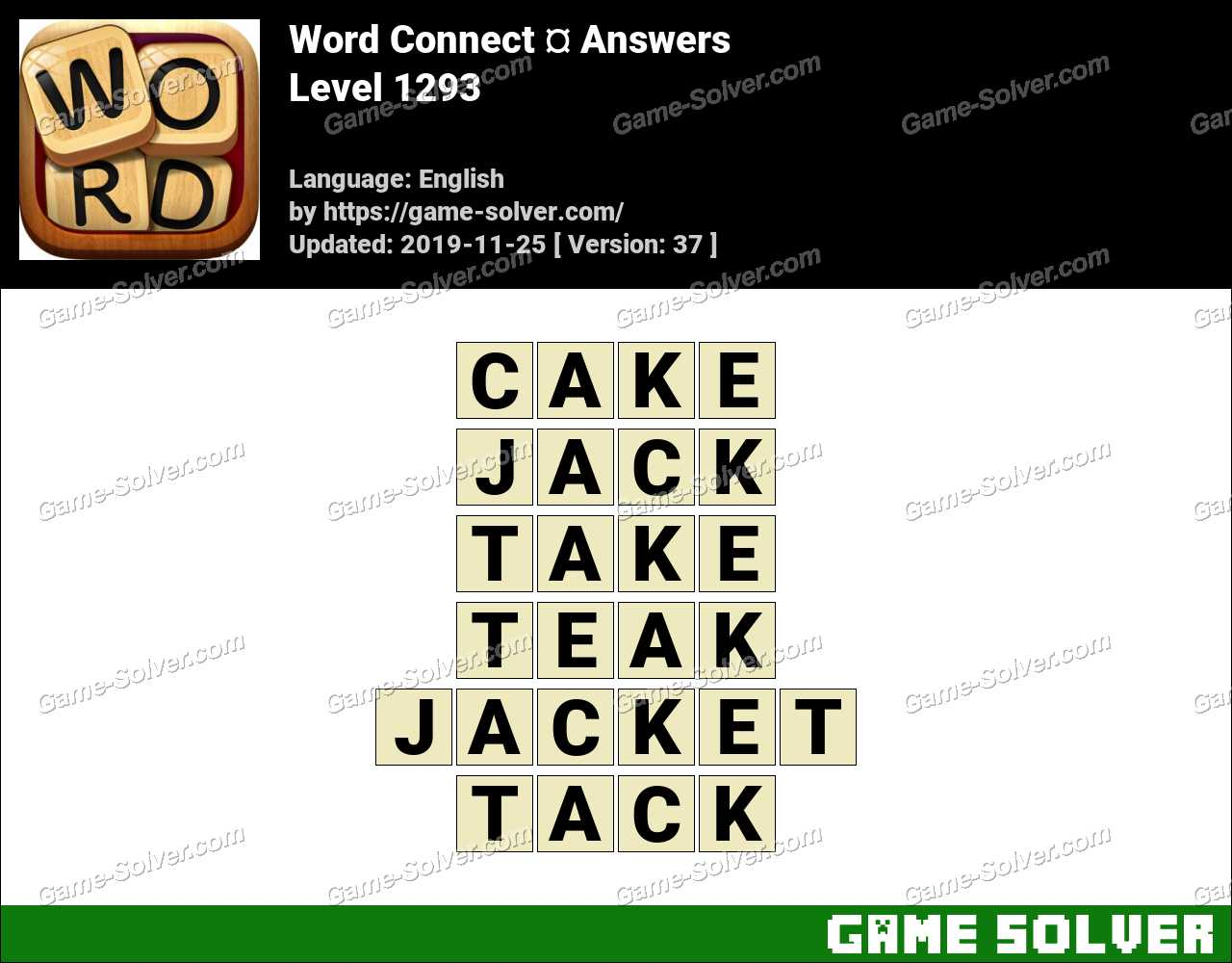 Word Connect Level 1293 Answers