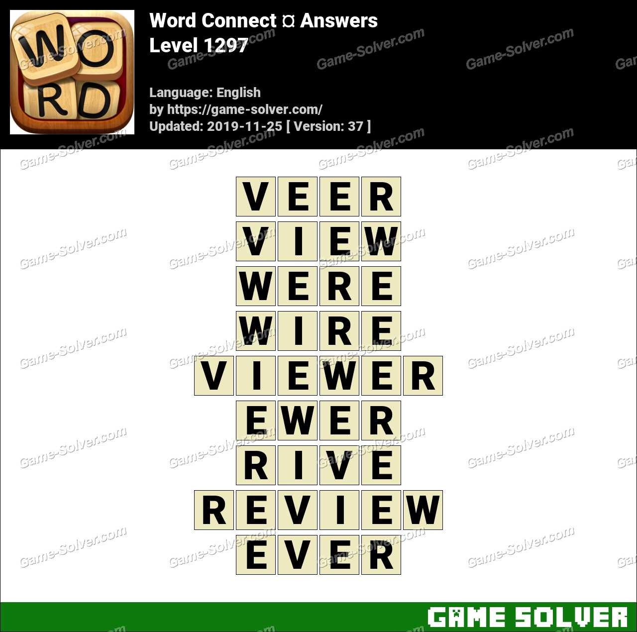 Word Connect Level 1297 Answers
