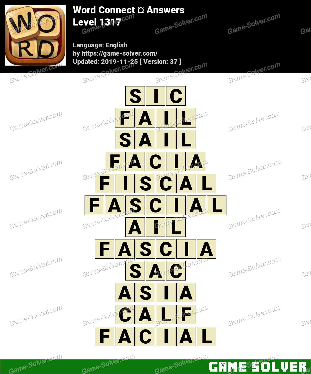 Word Connect Level 1317 Answers