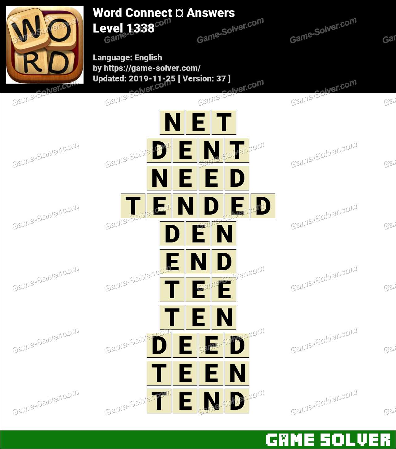 Word Connect Level 1338 Answers