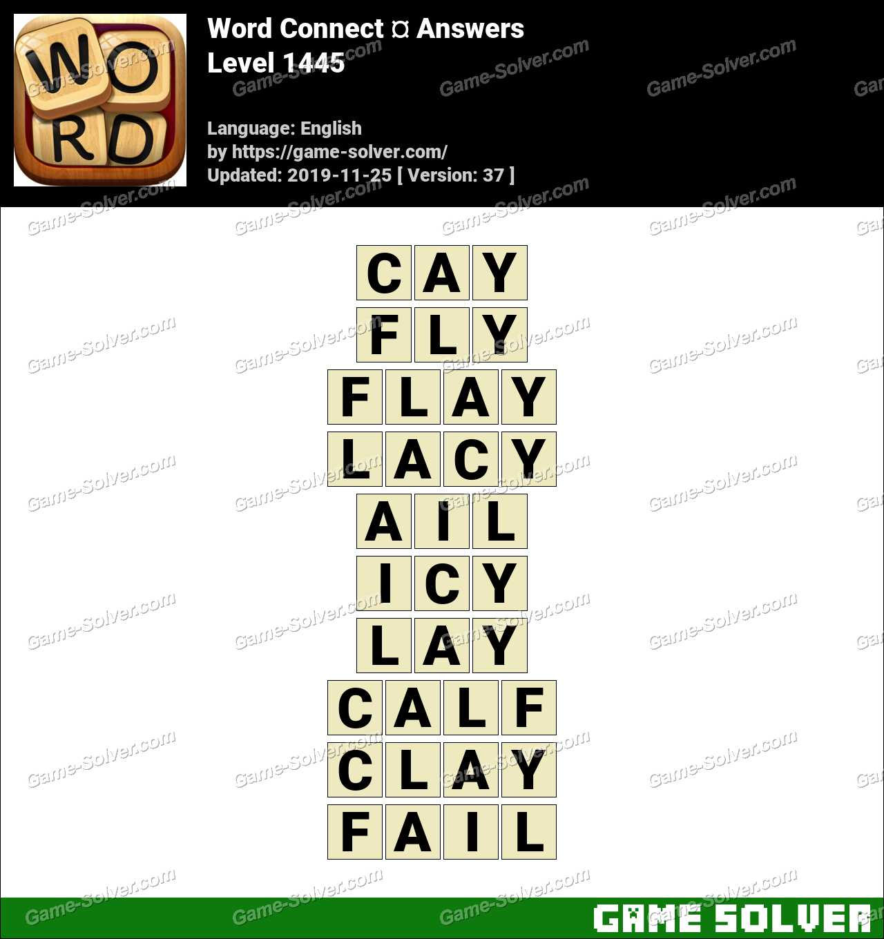 Word Connect Level 1445 Answers