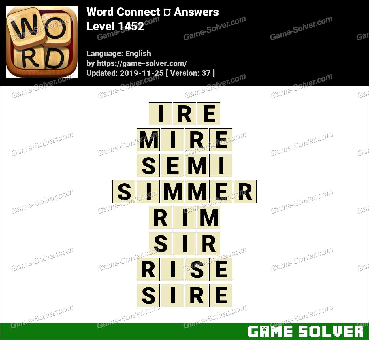 Word Connect Level 1452 Answers