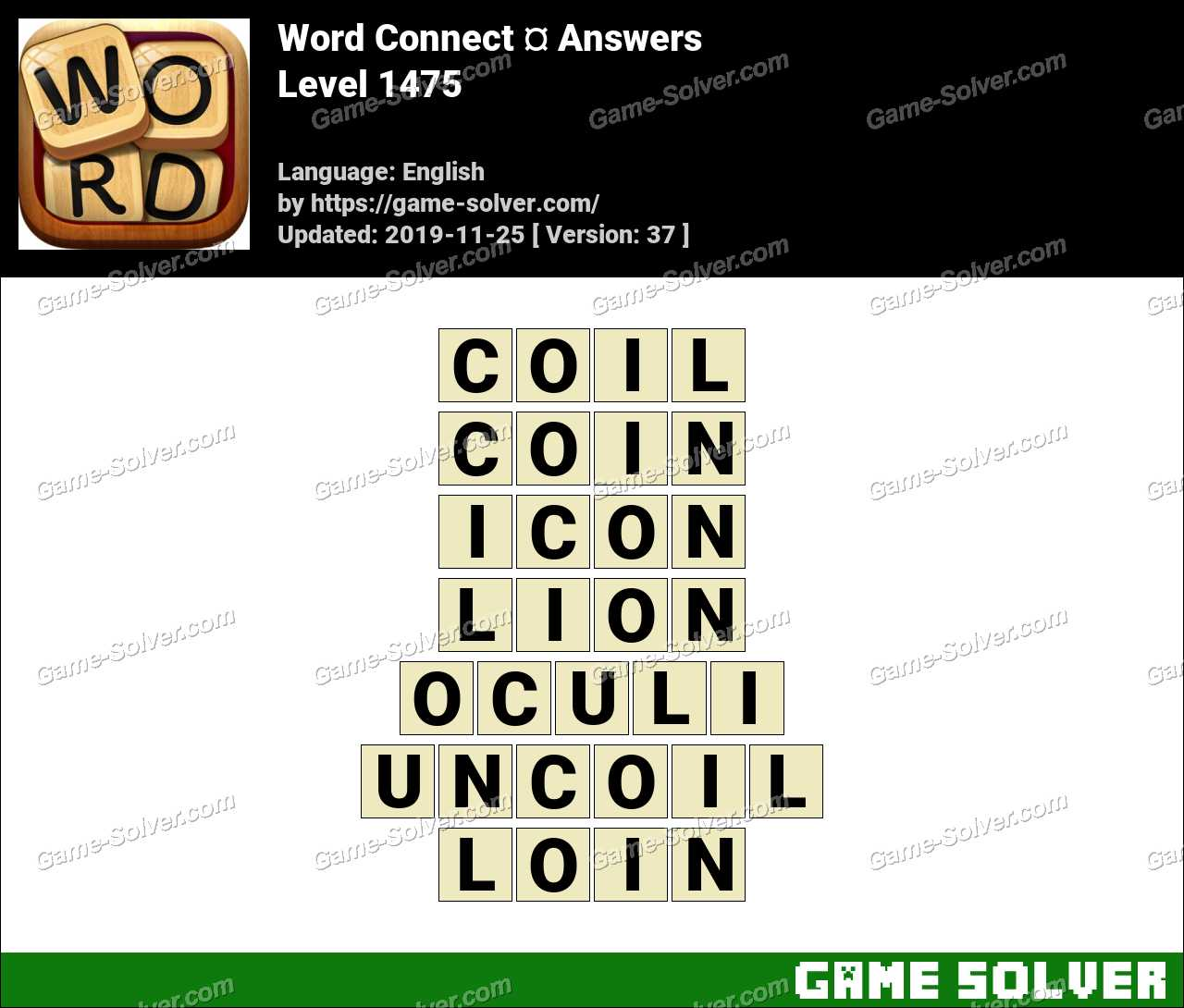 Word Connect Level 1475 Answers