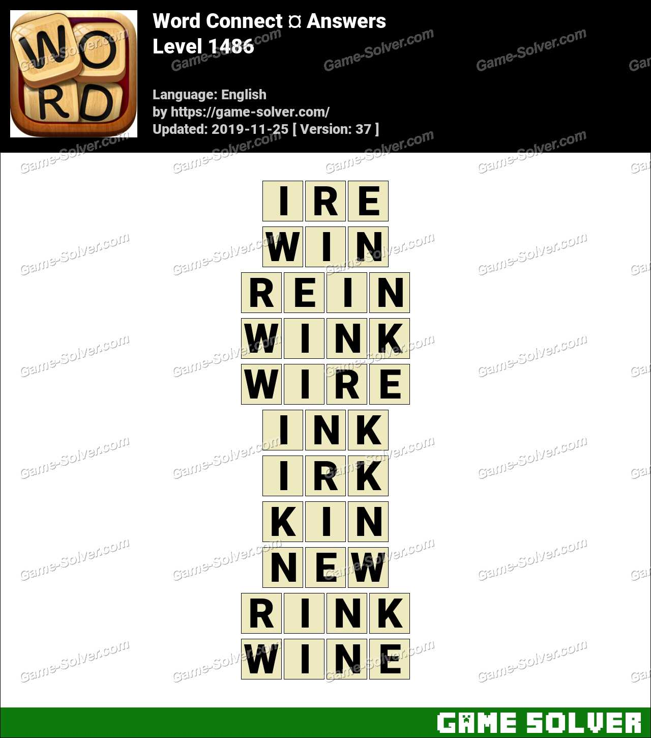 Word Connect Level 1486 Answers