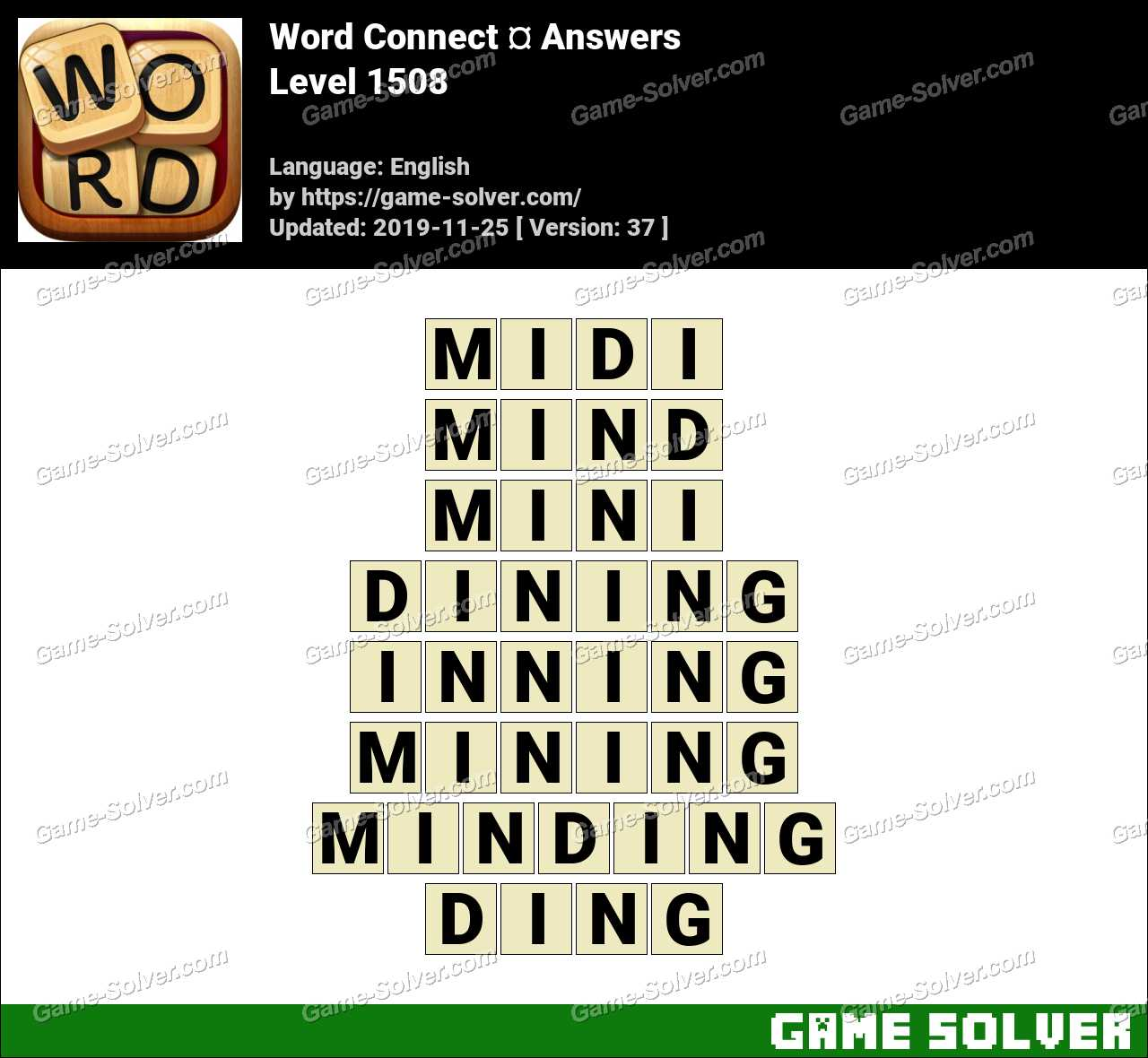Word Connect Level 1508 Answers