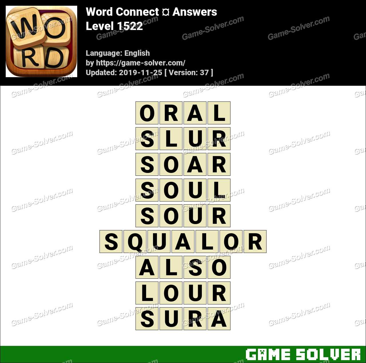 Word Connect Level 1522 Answers
