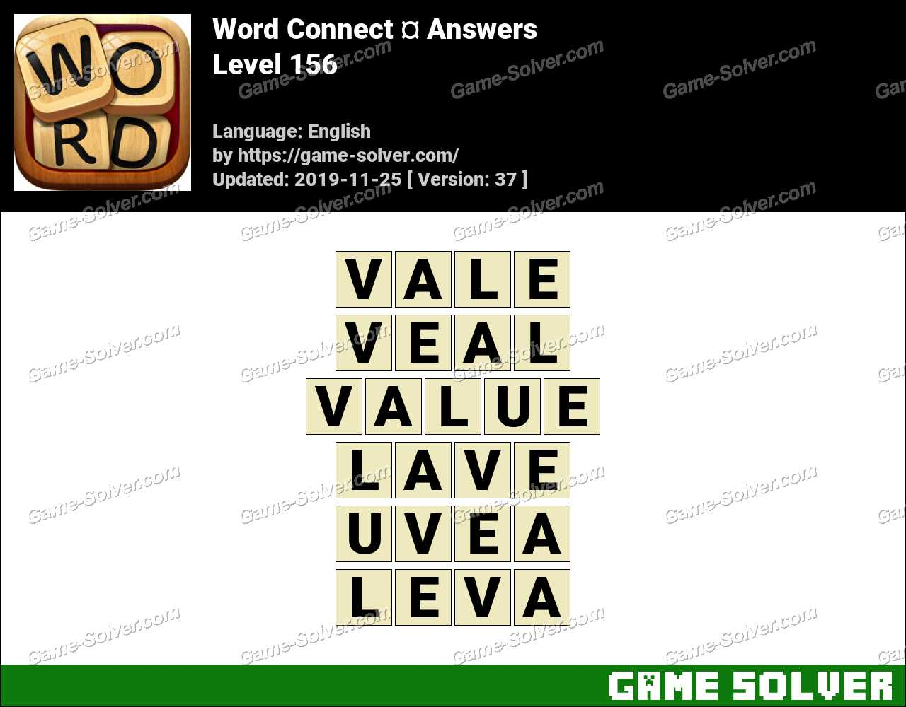 Word Connect Level 156 Answers