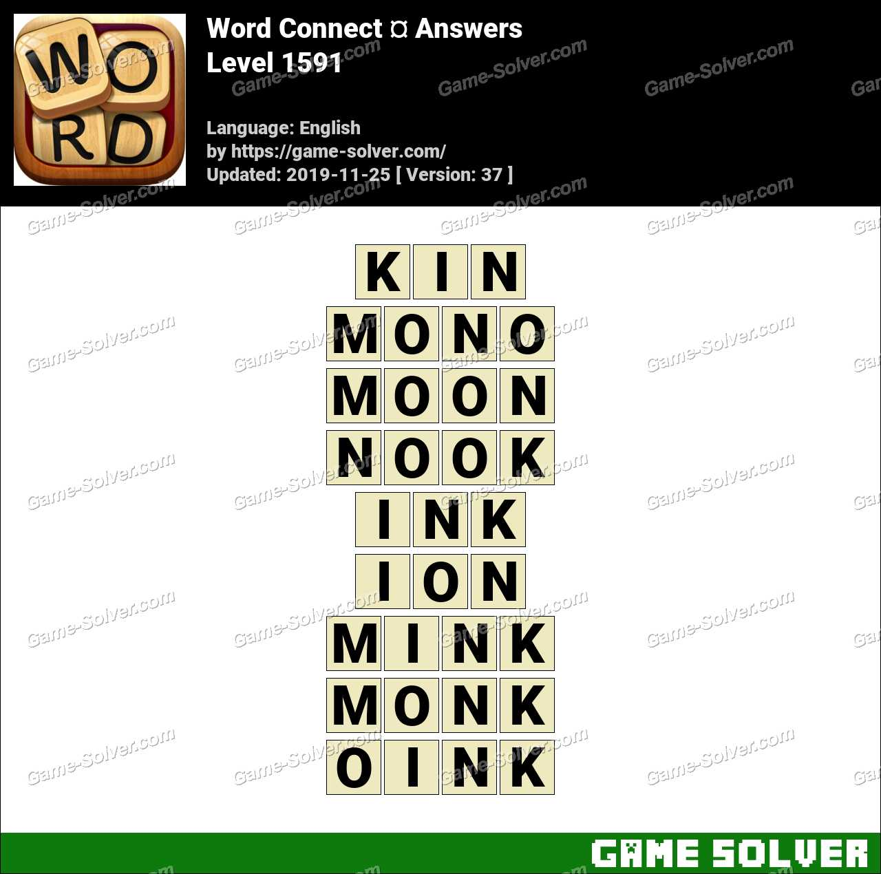 Word Connect Level 1591 Answers
