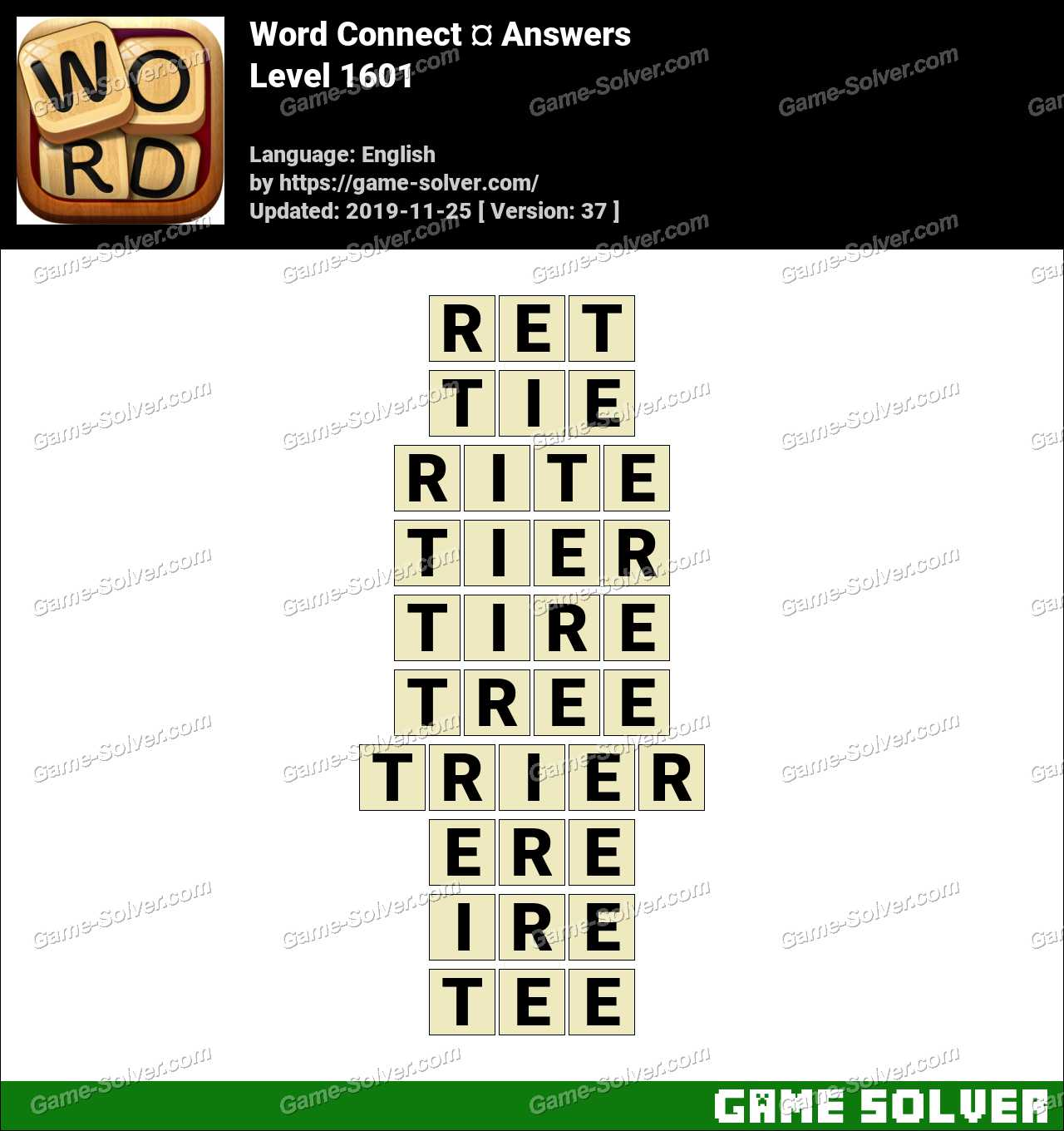 Word Connect Level 1601 Answers