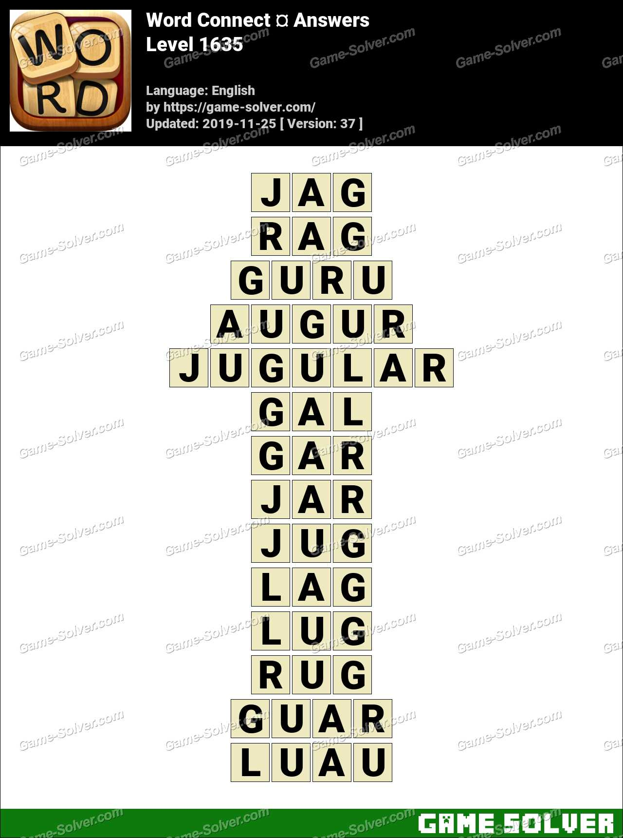 Word Connect Level 1635 Answers