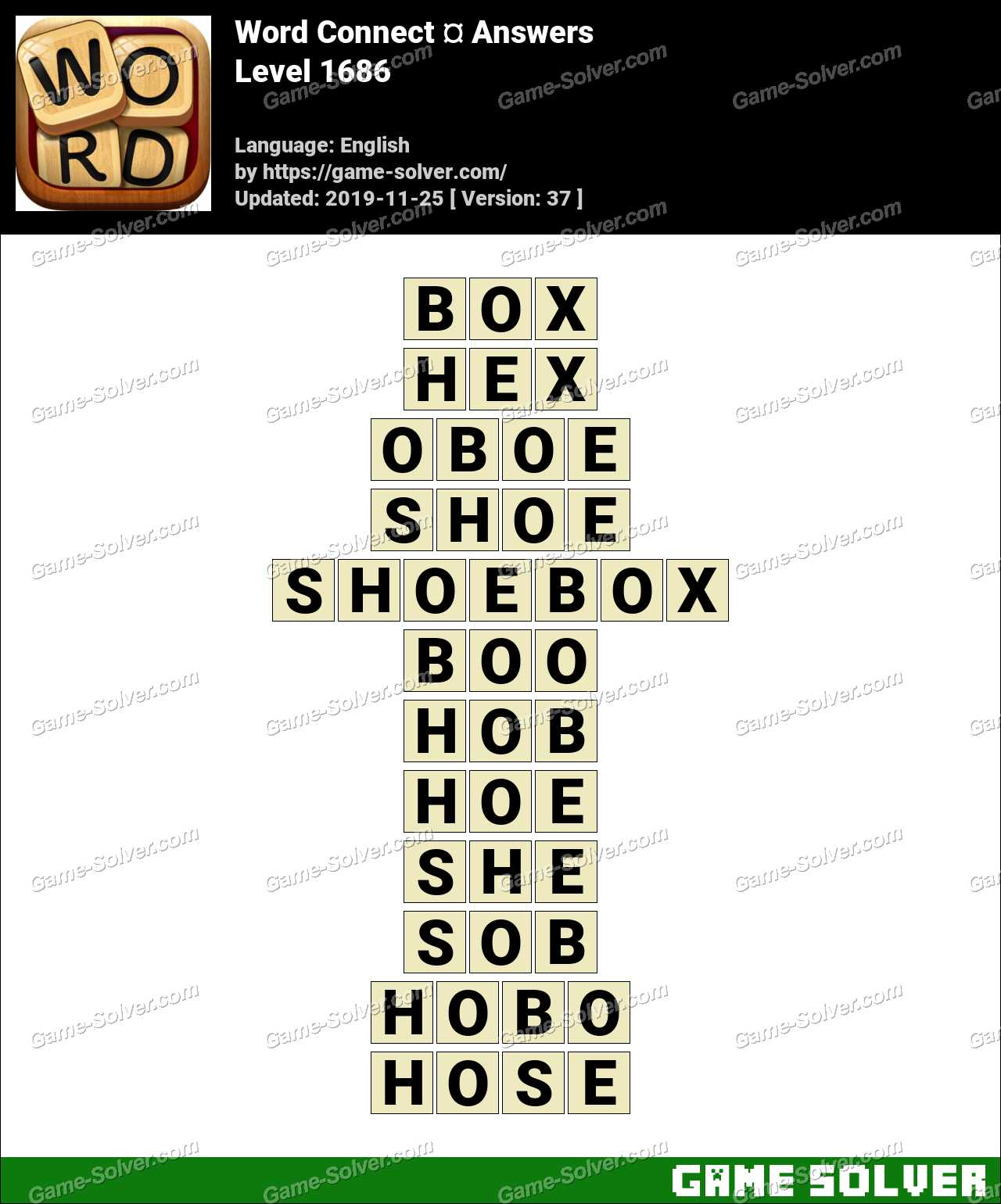 Word Connect Level 1686 Answers