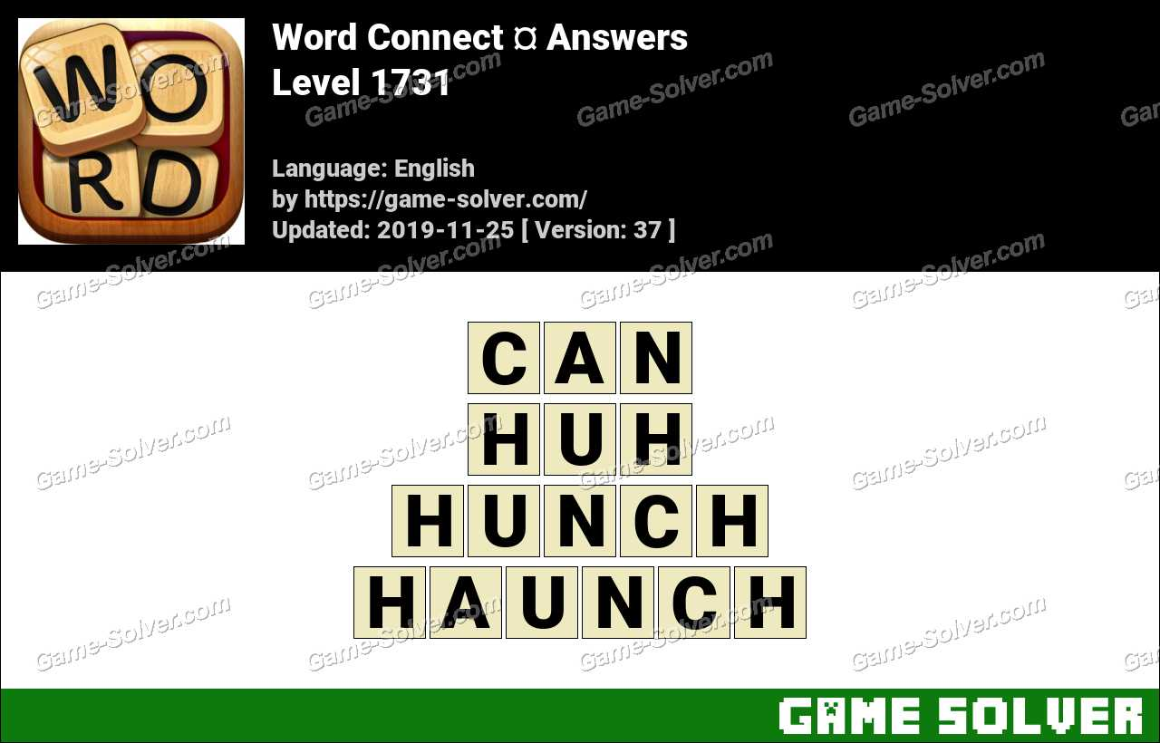 Word Connect Level 1731 Answers