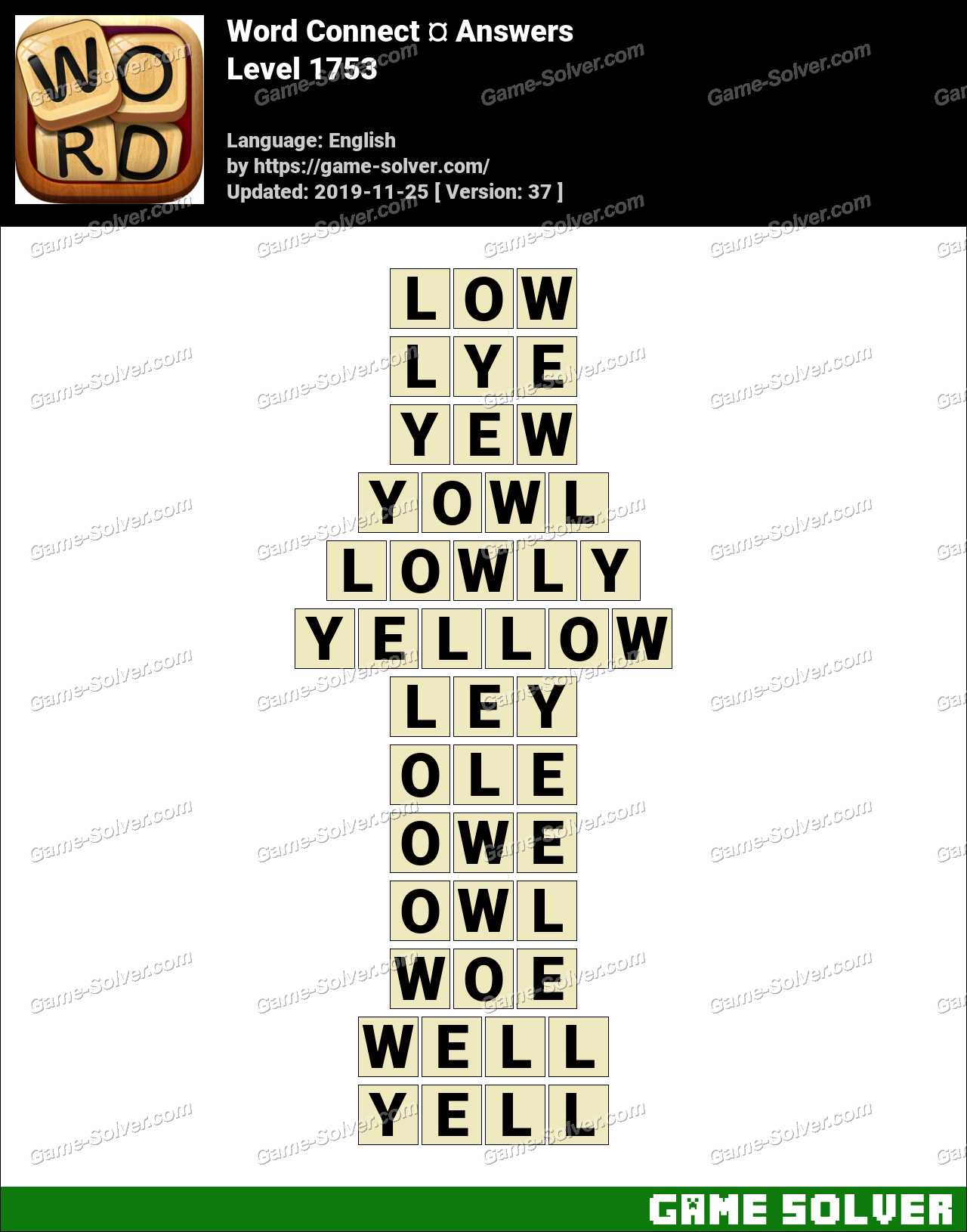 Word Connect Level 1753 Answers