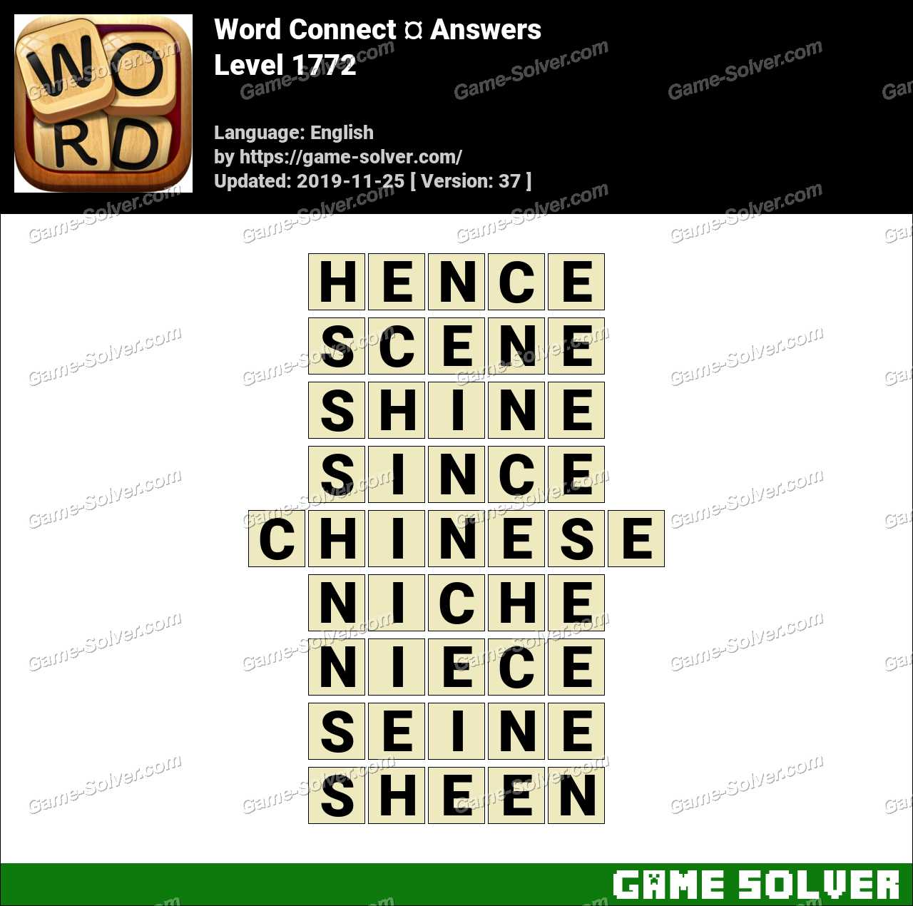 Word Connect Level 1772 Answers