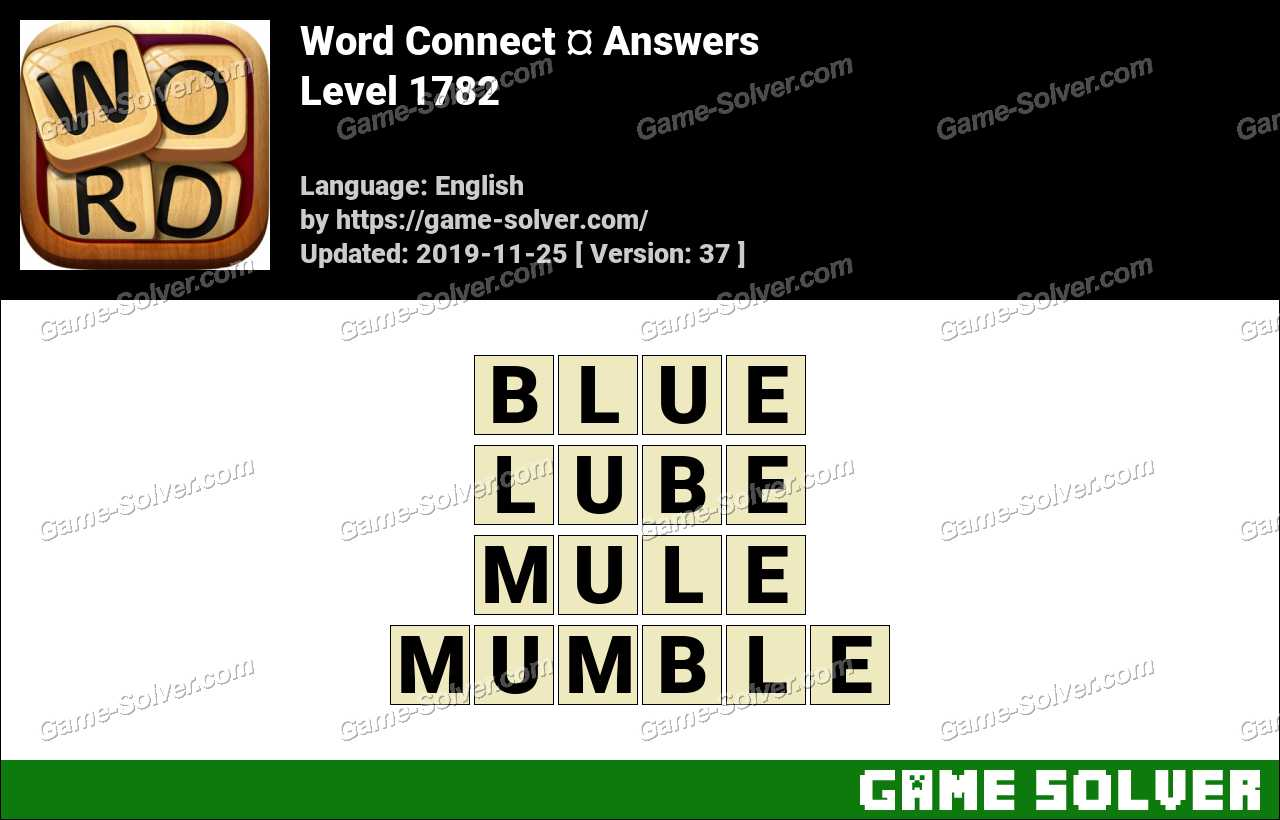 Word Connect Level 1782 Answers