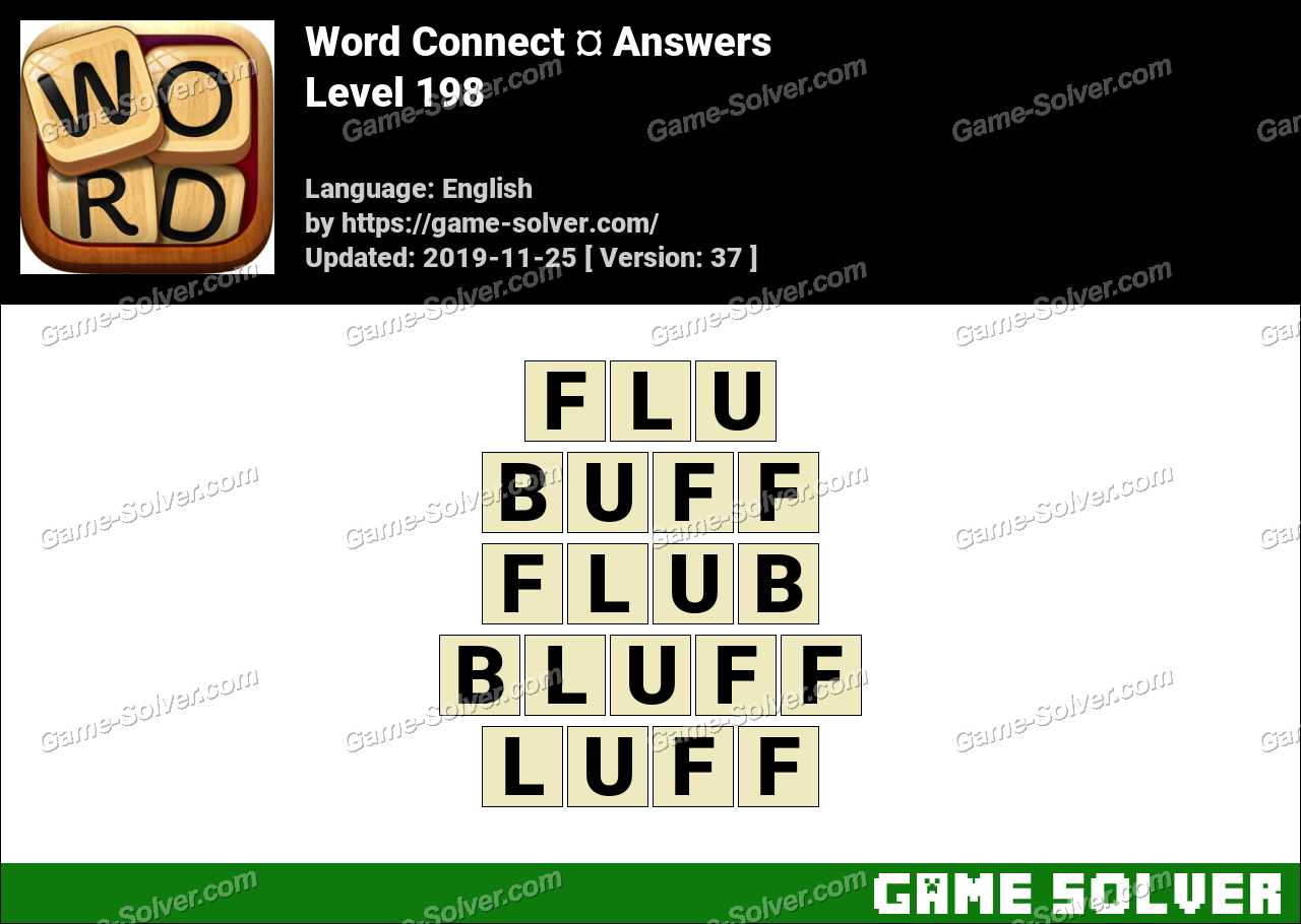 Word Connect Level 198 Answers