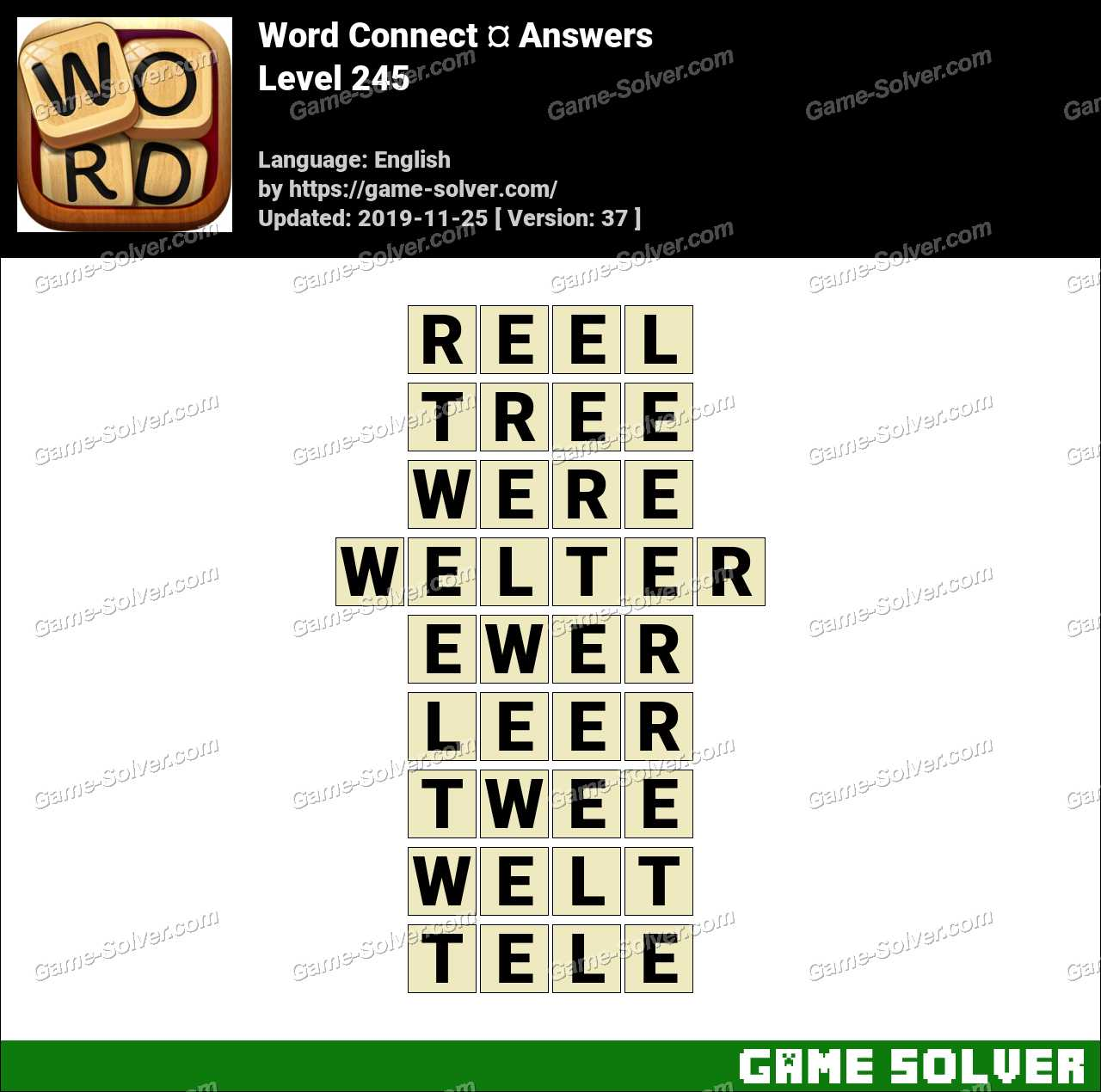 Word Connect Level 245 Answers