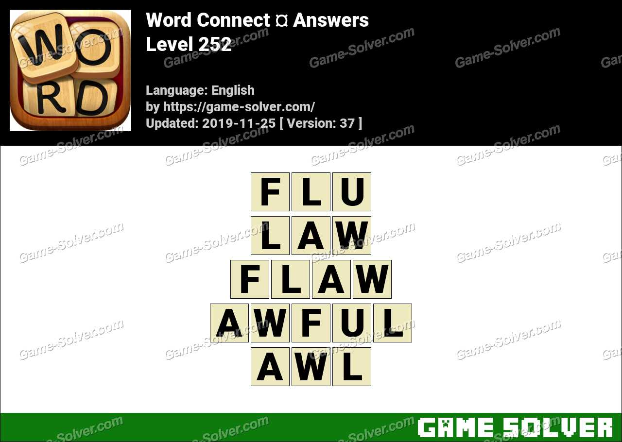 Word Connect Level 252 Answers